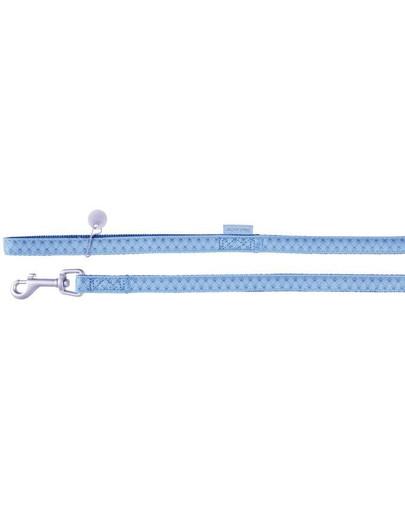 Smycz mac leather 10 mm / 1.2 m niebieski