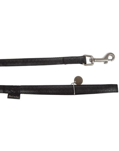 Smycz mac leather 10 mm / 1.2 m czarny