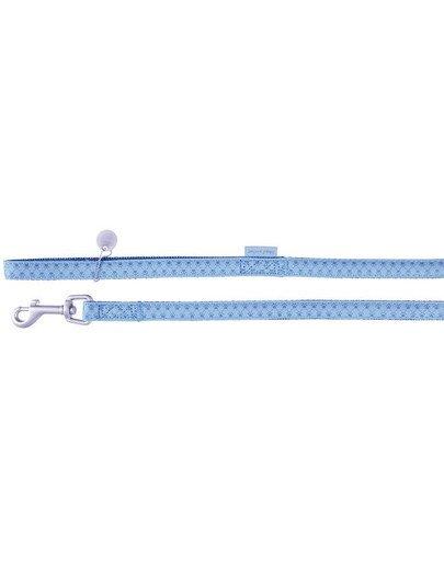 Smycz mac leather 25 mm / 1.2 m niebieski
