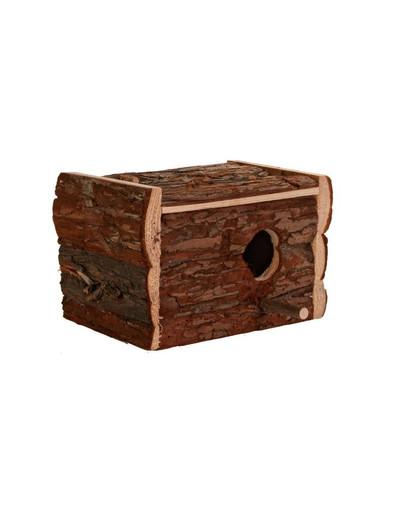 Domek drewniany dla nimfy 30 x 20 x 20 cm