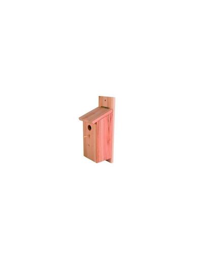 Budka dla ptaków/ sikorek 12 x 26 x 12 Cm. drewno