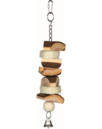 Natural living toy with luffa/bell