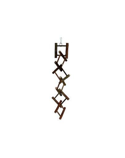 Zabawka drewniana dla ptaków 50 cm