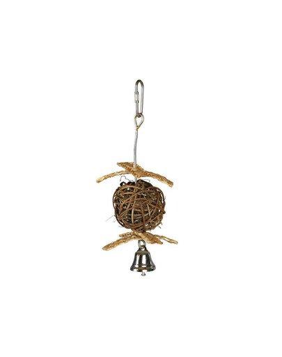 Zabawka dla ptaków z dzwonkiem o 5.5 cm / 18 cm