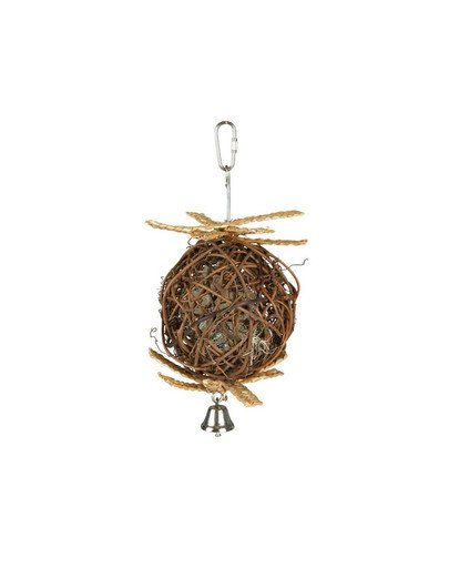 Wicker ball with bell. o 10 cm / 22 cm