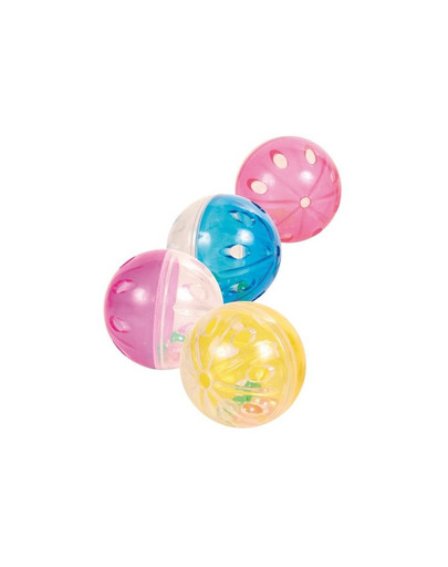 Piłki plastik przezroczyste 4 szt.