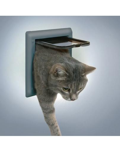 Drzwi dla kota clasic szare