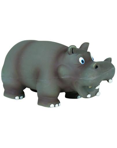 Zabawka hipopotam z oryginalnym dźwiękiem lateks 17 cm
