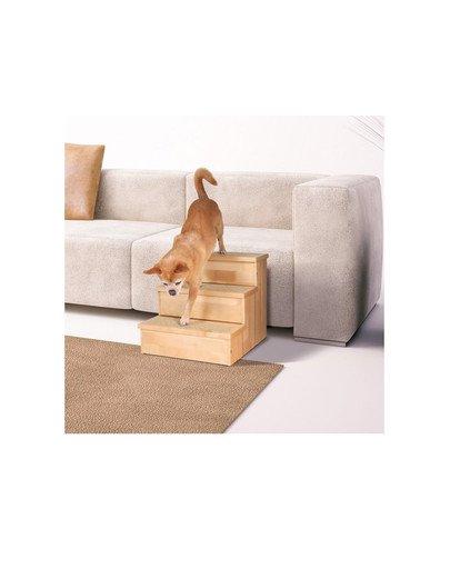Schody drewniane dla psa