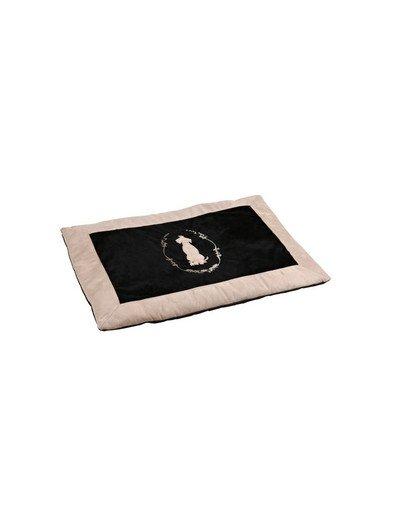 Leżanka psi król 100 x 70 cm czarno-beżowa