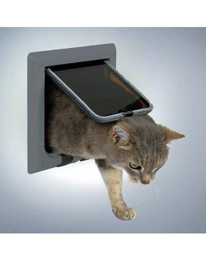 Drzwi dla kota de luxe szare