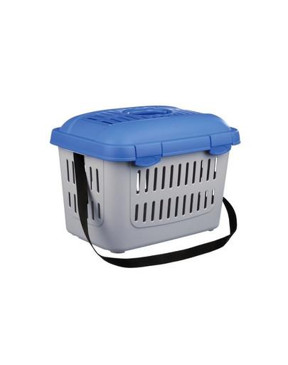 Midi-Capri transport box 44x33x32 cm niebiesko-srebrny