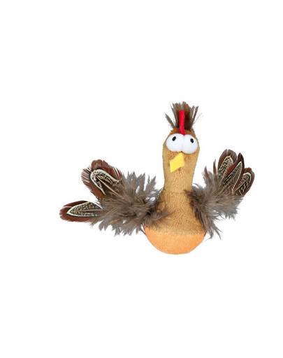 Kurczak z piórami i z dźwiękiem 10 cm