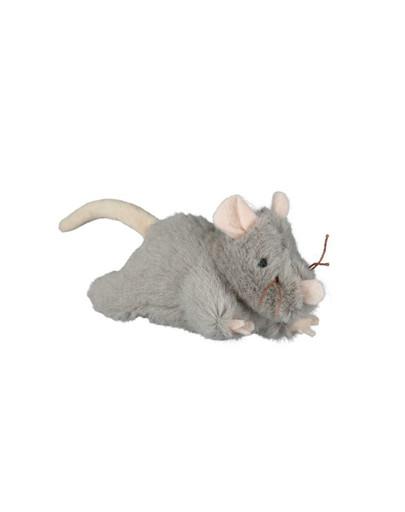 Mysz pluszowa z dźwiękiem 15 cm