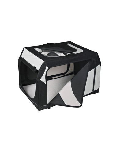 Box transportowy vario nylon czarno-szary 99 × 67 × 71/61 cm