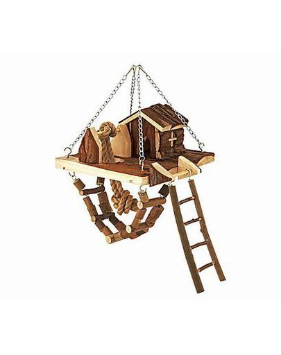 Plac zabaw dla gryzoni janne - zawieszany. 26 x 22 cm