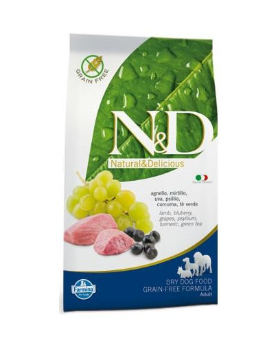 N&D lamb & blueberry adult dog 12 kg