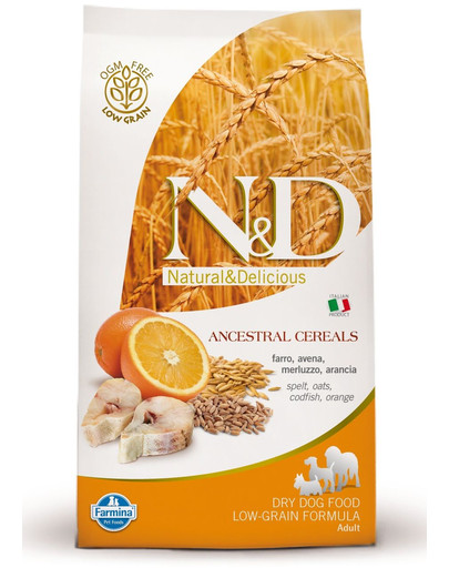 N&D low grain fish & orange adult medium dog 12 kg