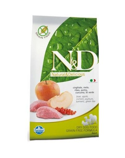 N&D boar & apple adult dog 2.5 kg