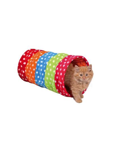 Tunel dla kota 25 x 50 cm kolorowy