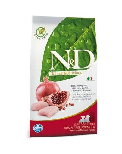 N&D chicken & pomegrante small & medium puppy 12 kg