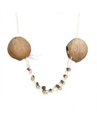 Podwójny domek z kokosu z drabiną. śr. 13 cm