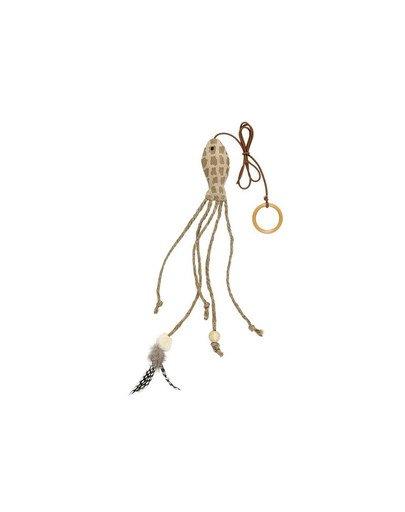 Ryba z piórem i sznurkami 27 cm