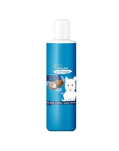 Szampon kokosowy dla psów o białej i jasnej sierści 200 ml