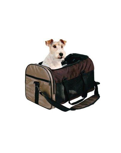 Torba dla psa 47 x 30 x 28 cm brązowo-beżowa