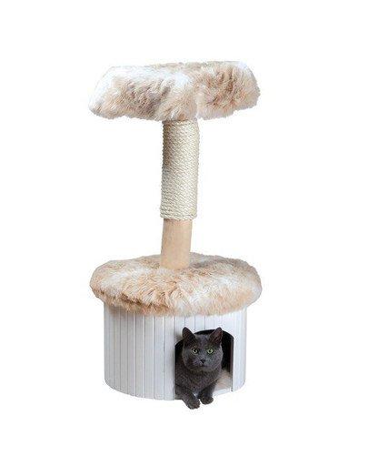 """Drapak dla kota """"Meru"""",98 cm, marmurkowy biały/beż"""