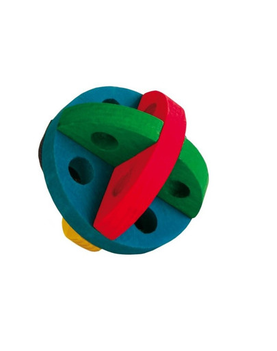 Piłka drewniana dla gryzoni
