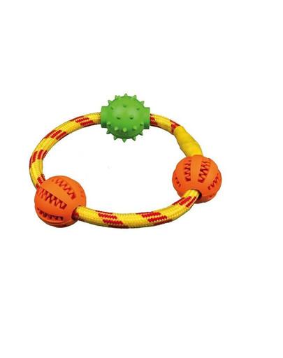 Denta Fun  sznur z piłkami  śr.20 cm