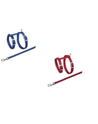 Szelki odblaskowe ze smyczą dla kota 22-42 mm/10 mm