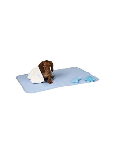 Zestaw dla szczeniaka niebieski 76 x 50 cm