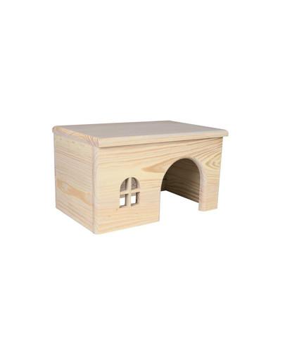 Domek drewniany z drzewa sosnowego dla chomika