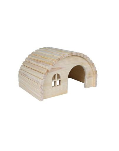Drewniany domek dla chomika 19 x 11 x 13 cm