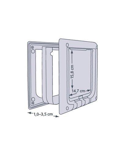 Drzwi dla kota 'freecat de luxe elektromagnetyczne białe