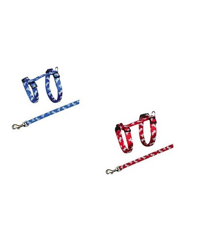 Szelki ze smyczą dla kota nylonowe 27-46 cm/10 mm