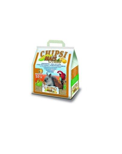 Chipsi mais citrus 10l/4.6 kg -podłšciółka z kolb kukurydzy dla gryzoni