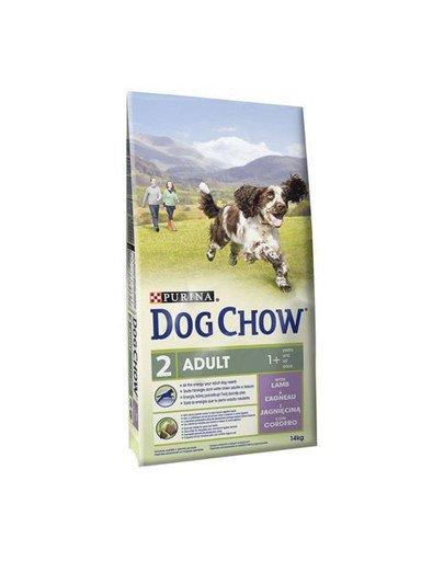 Dog Chow Adult Jagnięcina 14 kg +2,5Kg Gratis