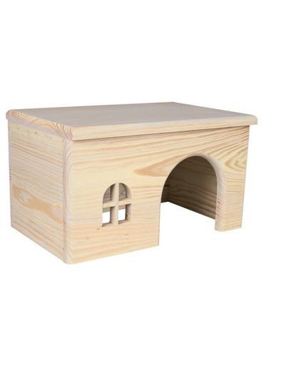 Drewniany domek dla świnki 28 x 16 x 18 cm