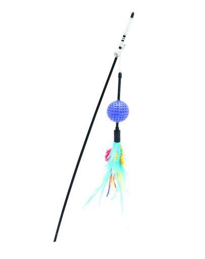 Zabawka wilma wędka z piłką niebieska 65