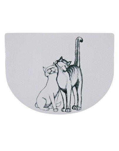 Podkładka pod miski `Pussy Cat` 40x30 cm półokrągła