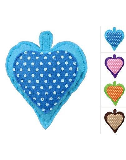 Serce z filcu z walerianą, 11 cm