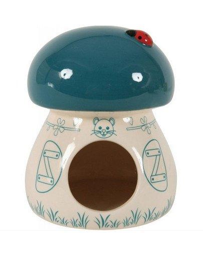 Domek Ceramiczny Grzybek Niebieski