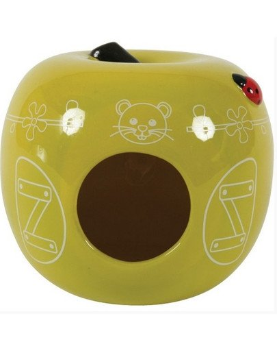 Domek Ceramiczny Jabłko Seledynowy