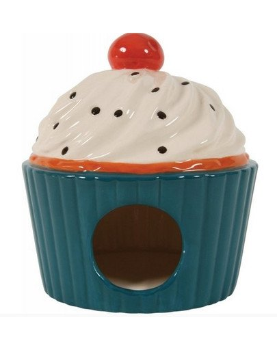Domek Ceramiczny Ciastko Niebieski