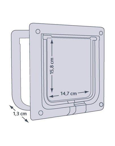 Drzwi Wahadłowe Dla Kota (Białe) 13mm