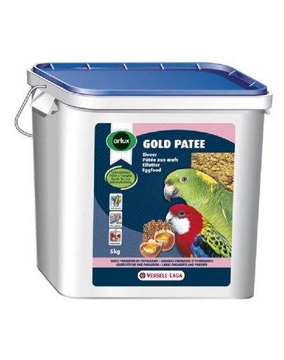 Gold Patee Large Parakeets And Parrots 5 kg - Pokarm Jajeczny Dla Średnich I Dużych Papug