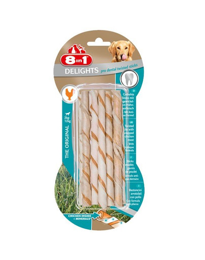 Przysmak Delights Pro Dental Twisted Sticks 10 Szt